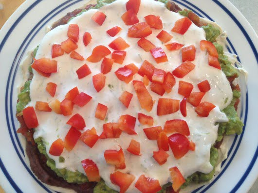 layered guacamole dip