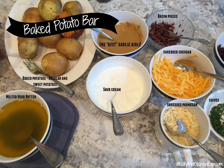 Easy and Tasty Baked Potato Bar