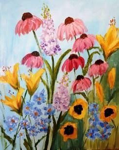 Flower Field before