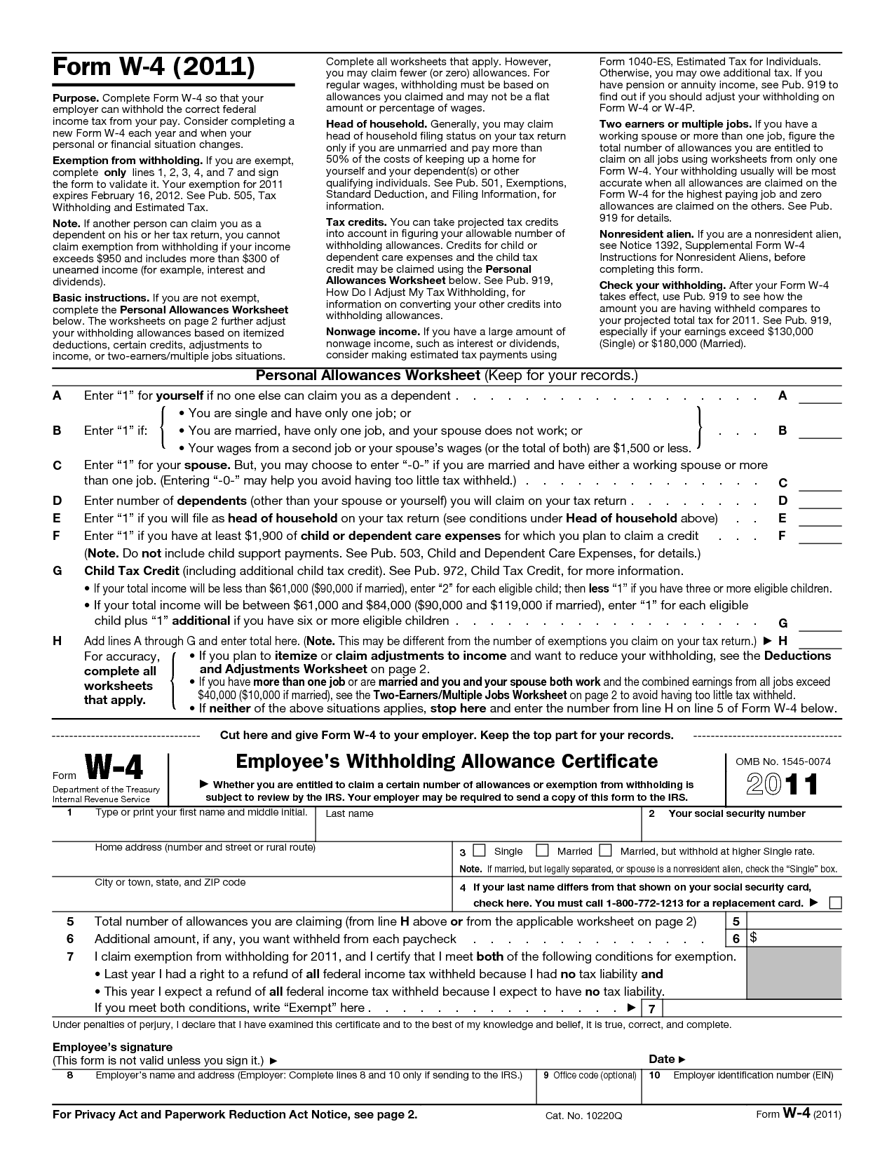 Tweak Your Withholding Taxes Filing A New W 4 Form With Your Employer