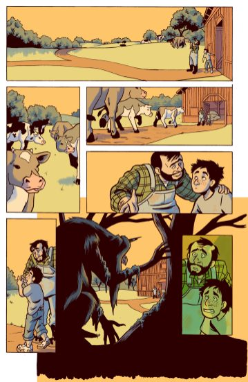 A page of Harrow County drawn in 2016