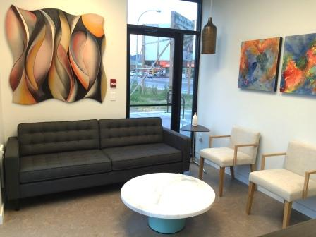 Image of reception and waiting area at Kelowna Denture Clinic