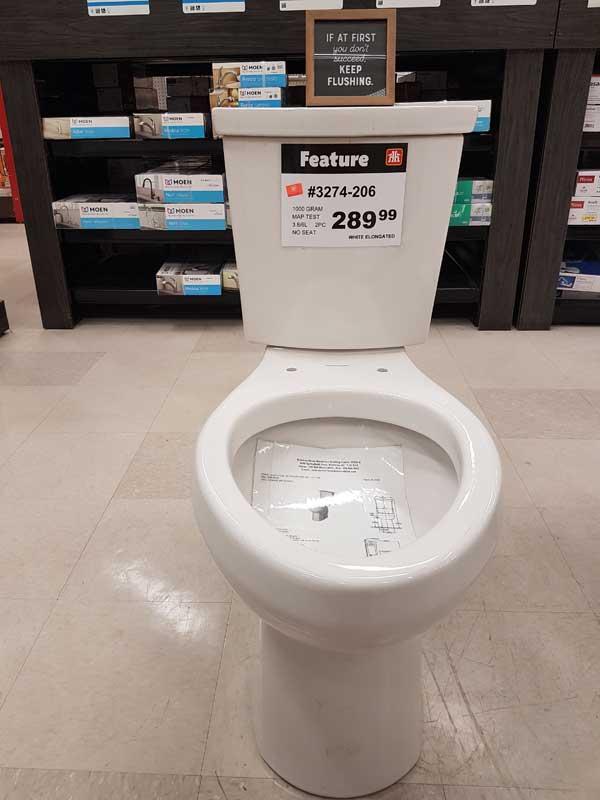 Toilets on sale in Kelowna, Home Hardware.