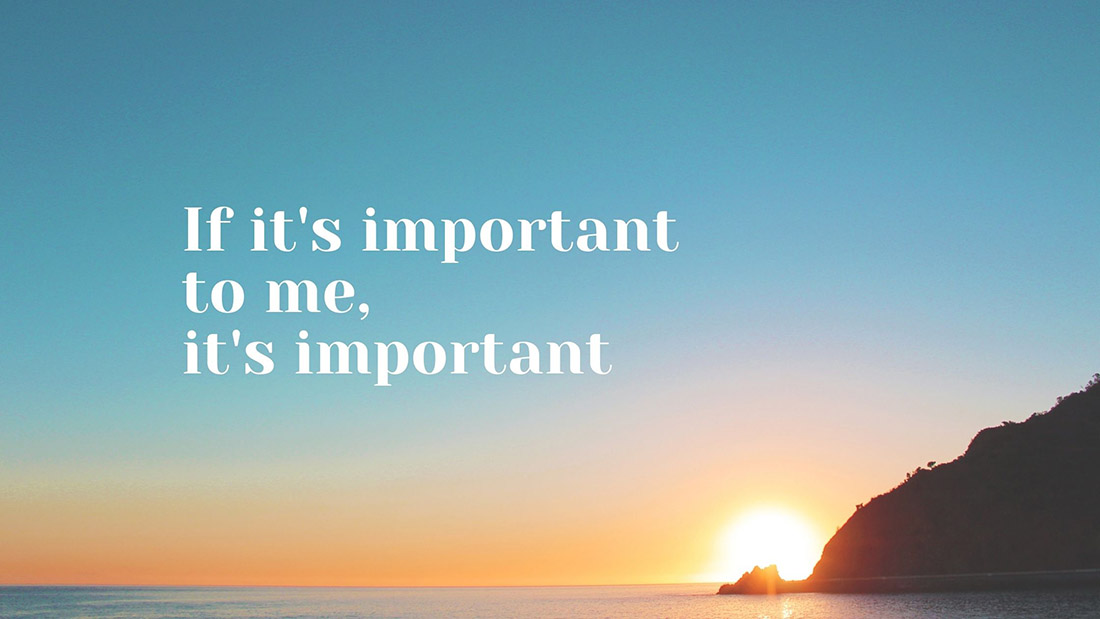 blog cover - if it's important to me it's important