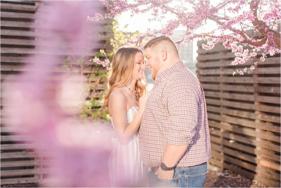 Kansas City Spring sunrise engagement session