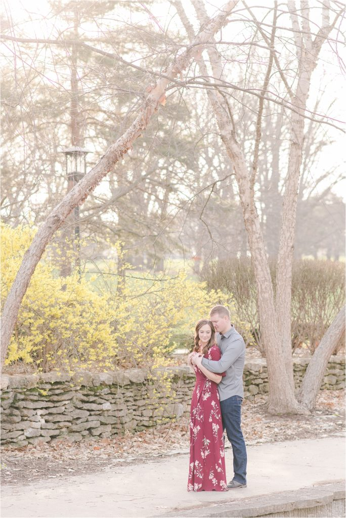 Spring engagement session at Loose Park -KCMO Wedding Photographer