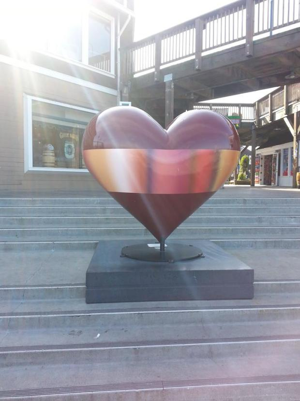 Heart Art in San Francisco, glistening and reminding me of our inherent beauty and purpose