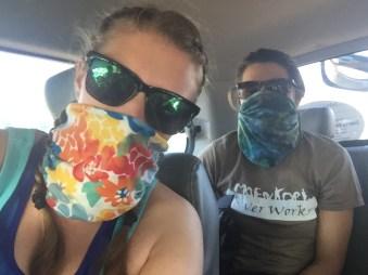 Battling the dusty roads