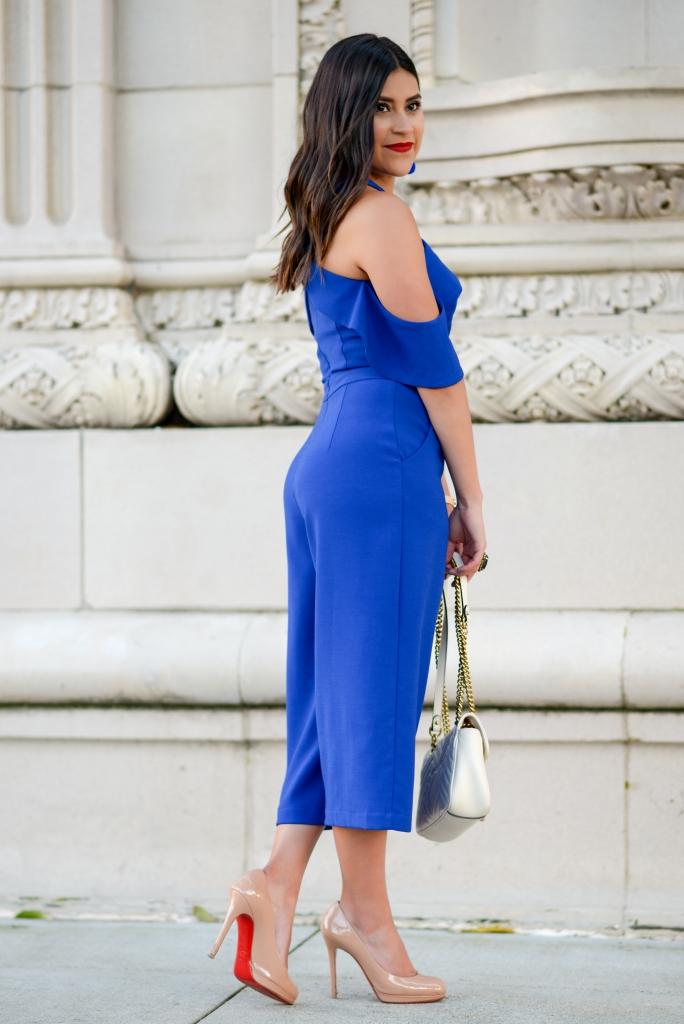 Wedding Guest Attire Little Cobalt Jumpsuit Kelsey Kaplan Fashion