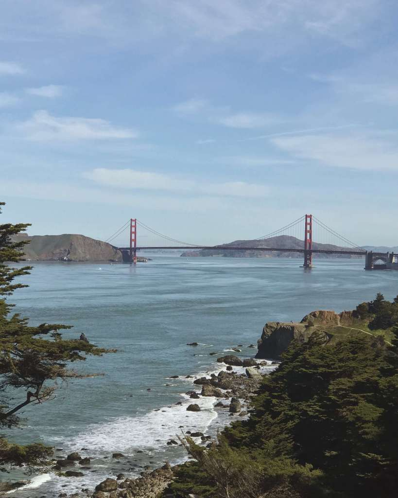 View of the Golden Gate Bridge in San Francisco, CA