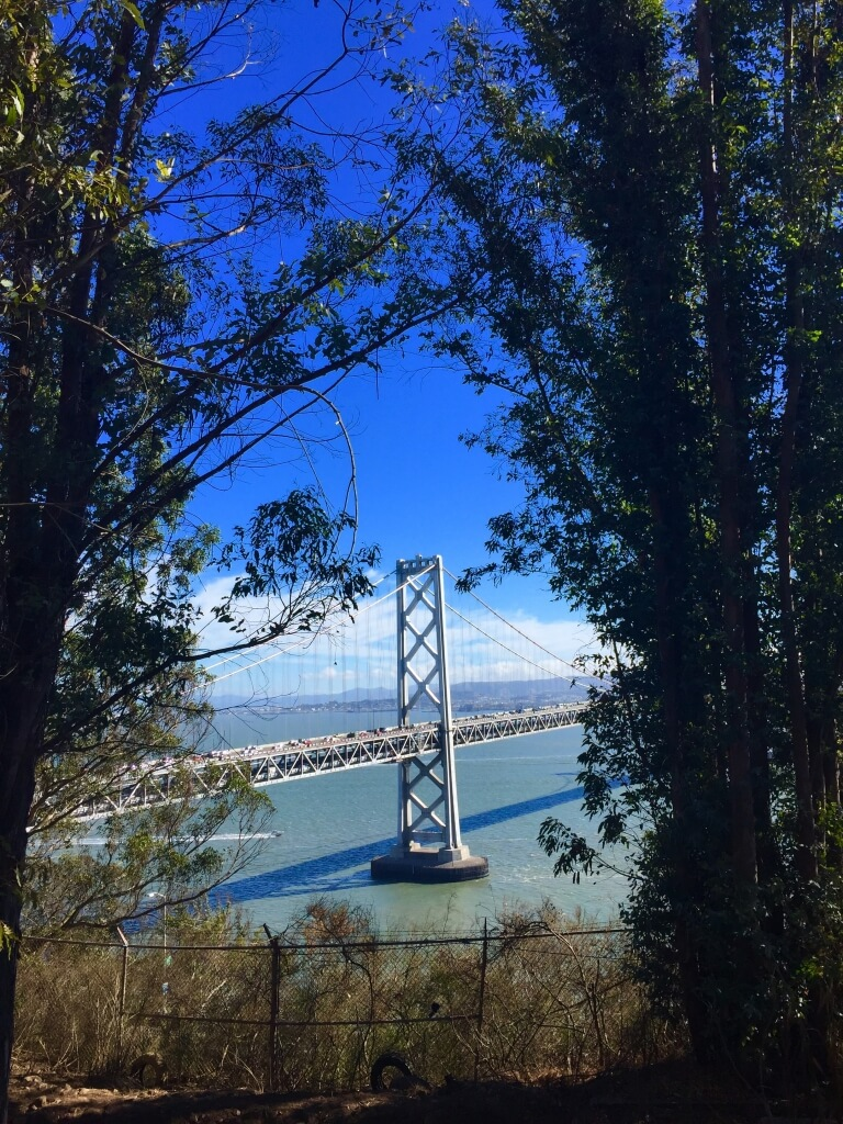 View of the Bay Bridge in San Francisco, CA
