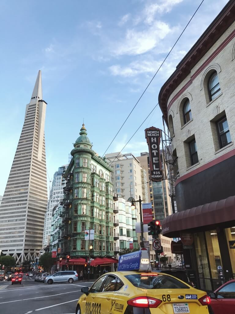 San Francisco city scape with Transamerica Pyramid