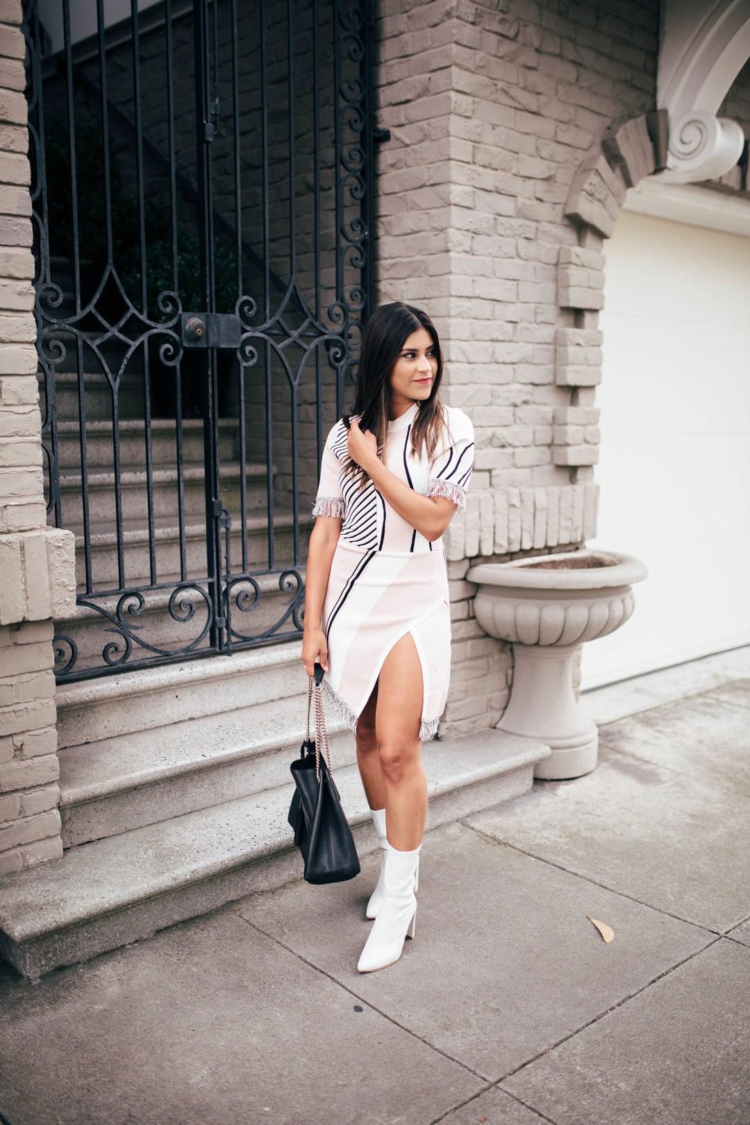 Lifestyle blogger Kelsey Kaplan of Kelsey Kaplan Fashion wearing Stuart Weitzman Clinger bootie