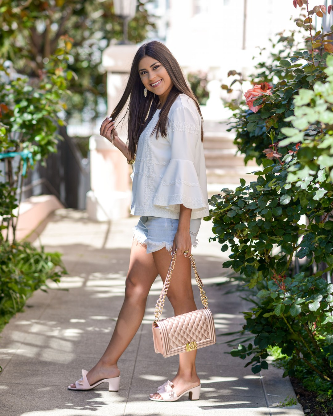 lifestyle blogger Kelsey Kaplan of Kelsey Kaplan Fashion wearing affordable spring fashion