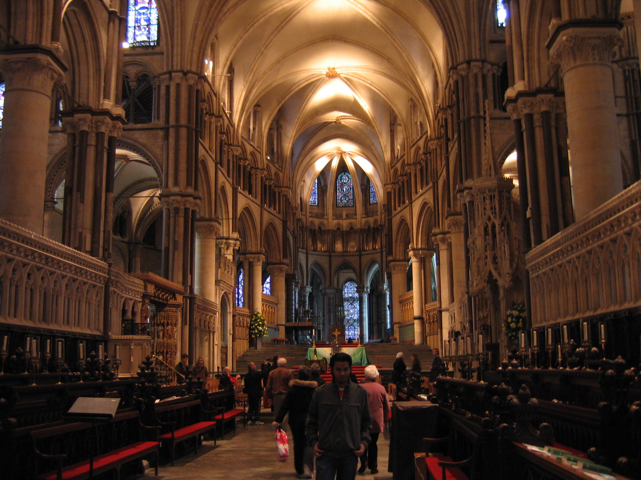 Interior of Canterbury Cathedral.