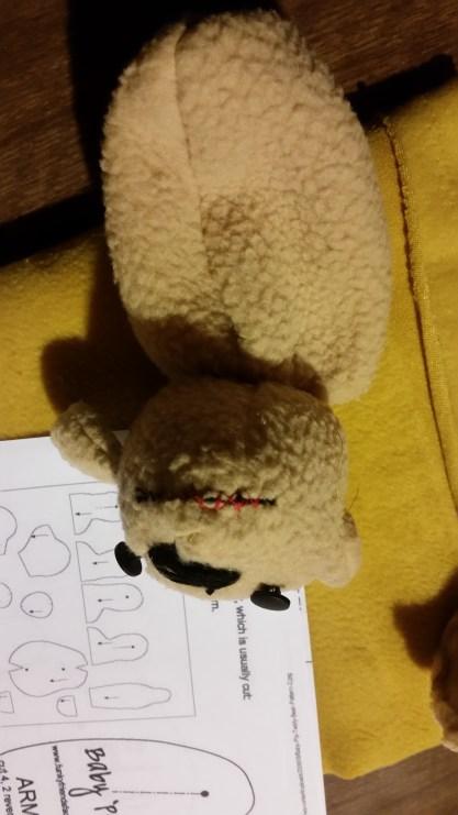 Poor unstuffed teddy