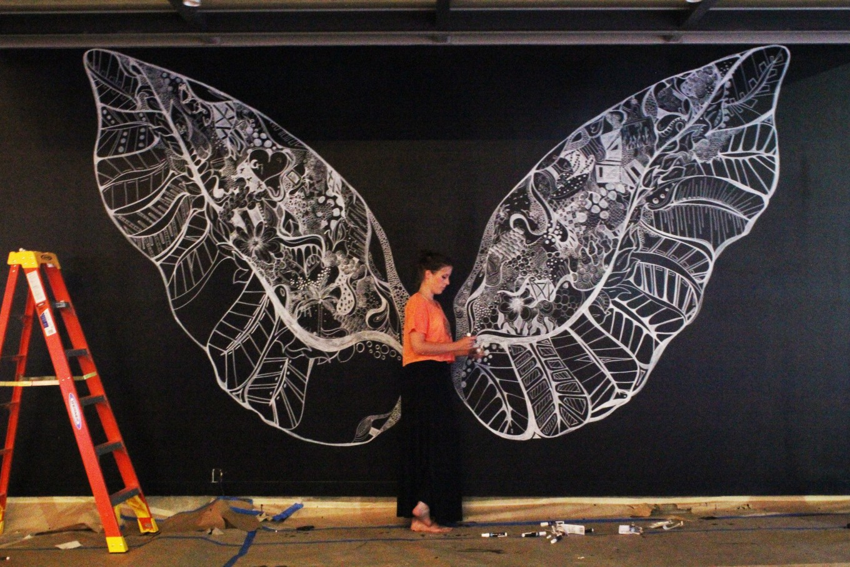 Kelsey Montague Art wings night time drawing