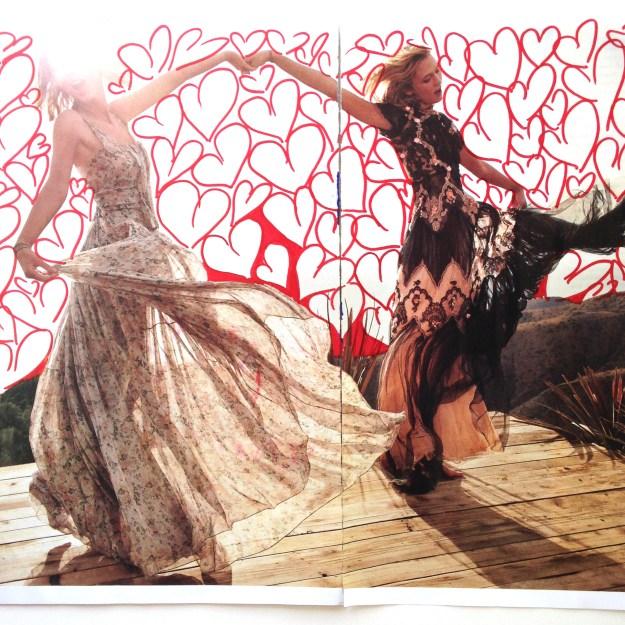 Taylor Swift & Karlie Kloss Vogue Magazine art by Kelsey Montague Art 1