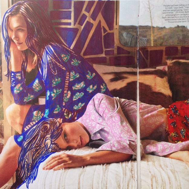 Taylor Swift & Karlie Kloss Vogue Magazine art by Kelsey Montague Art 2