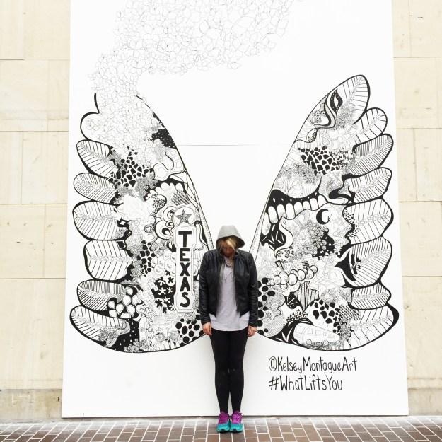 Kelsey Montague Art San Antonio wings