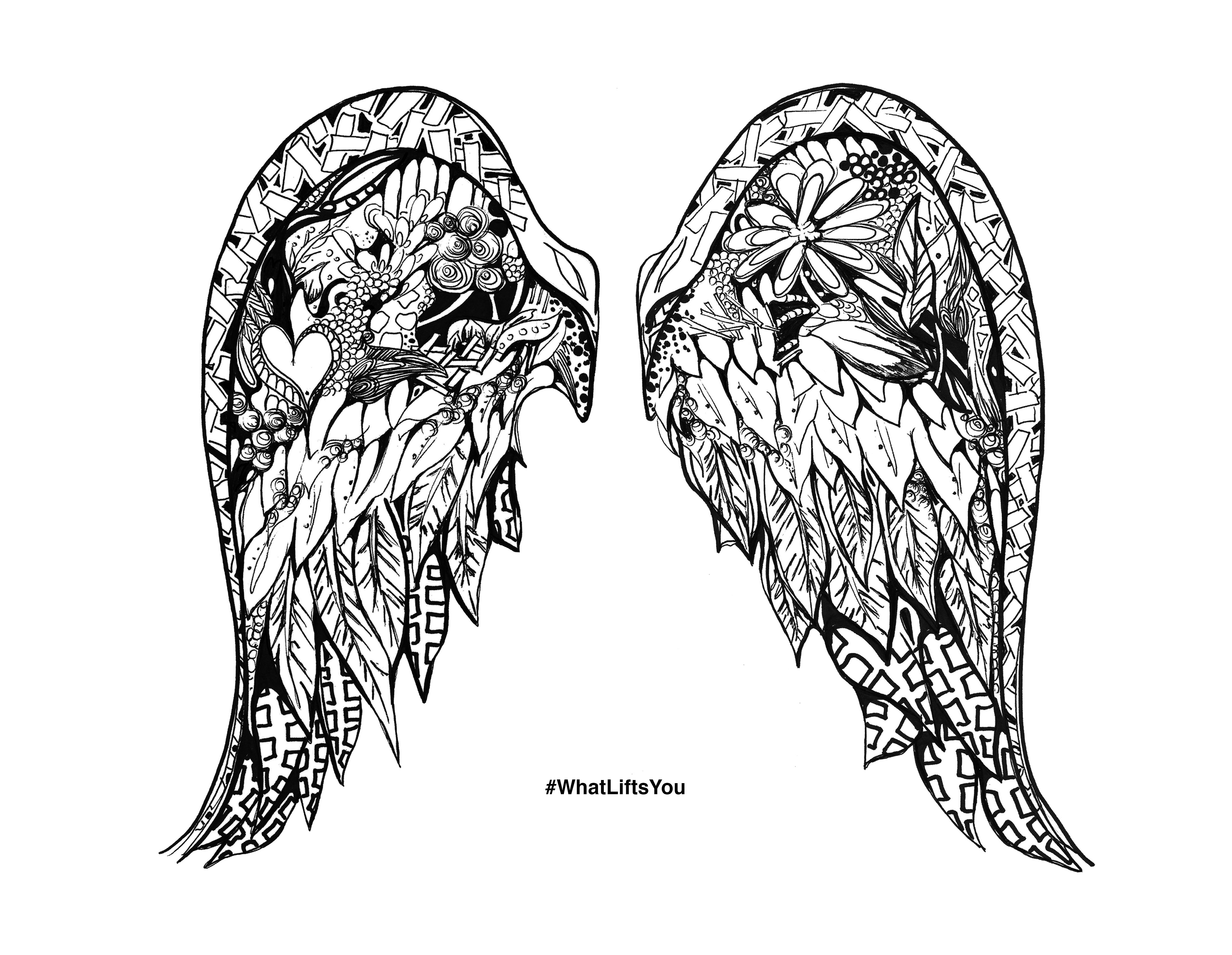 Limited Edition What Lifts You Winged Drawing Print Signed By Kelsey Montague