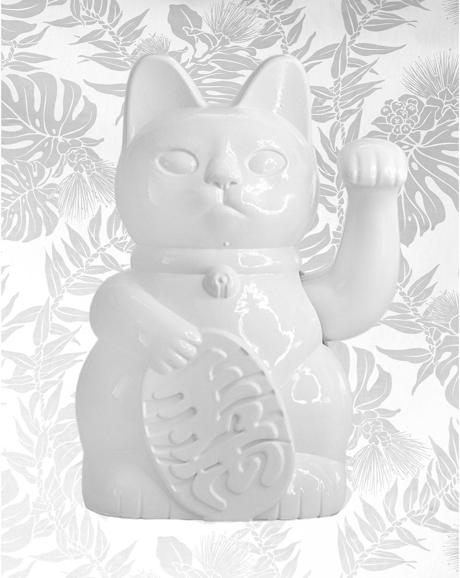 Image of White on White Maneki Neko
