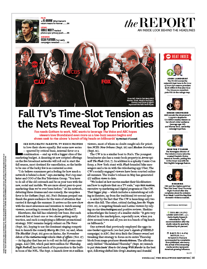 2014 Fall TV / The Hollywood Reporter / 9.25.14 / kelsey stefanson / art direction + graphic design / yeskelsey.com