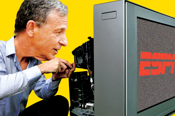 How Will Bob Iger Fix His ESPN Problem? / The Hollywood Reporter / 5.27.16 / kelsey stefanson / art direction + graphic design / yeskelsey.com