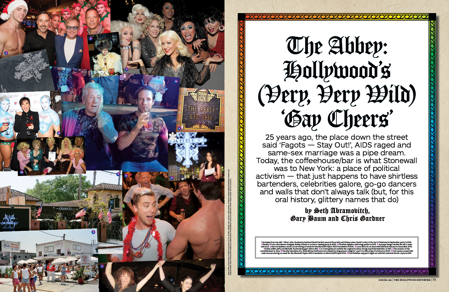 The Abbey: Hollywood's 'Gay Cheers' / The Hollywood Reporter / 6.17.16 / kelsey stefanson / art direction + graphic design / yeskelsey.com