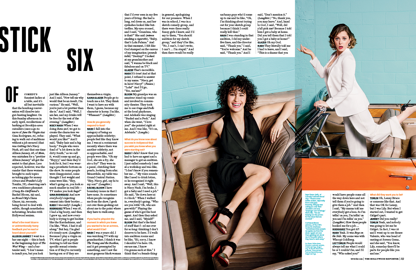Comedy Actress Roundtable / The Hollywood Reporter / 6.24.16 / kelsey stefanson / art direction + graphic design / yeskelsey.com