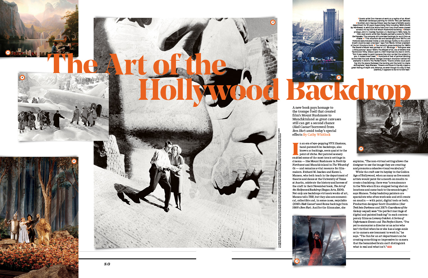 The Art of the Hollywood Backdrop / The Hollywood Reporter / 11.4.16 / kelsey stefanson / art direction + graphic design / yeskelsey.com