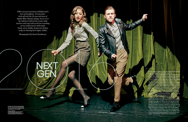 Next Gen 2016 / The Hollywood Reporter / 11.18.16 / kelsey stefanson / art direction + graphic design / yeskelsey.com