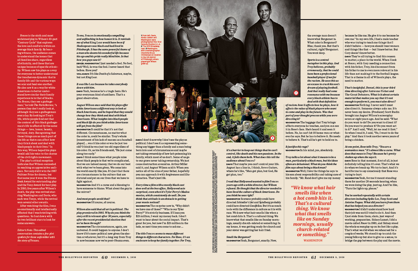 Race, Family and Fences in the Trump Era / The Hollywood Reporter / 12.9.16 / kelsey stefanson / art direction + graphic design / yeskelsey.com