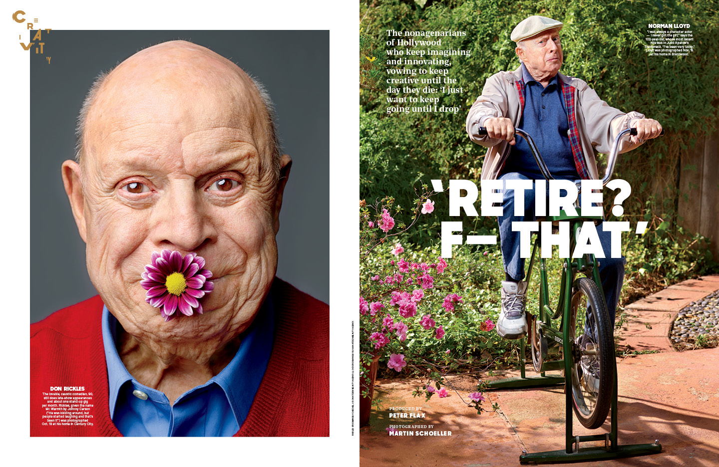 """Retire? F— That"" / The Hollywood Reporter / 1.6.17 / kelsey stefanson / art direction + graphic design / yeskelsey.com"