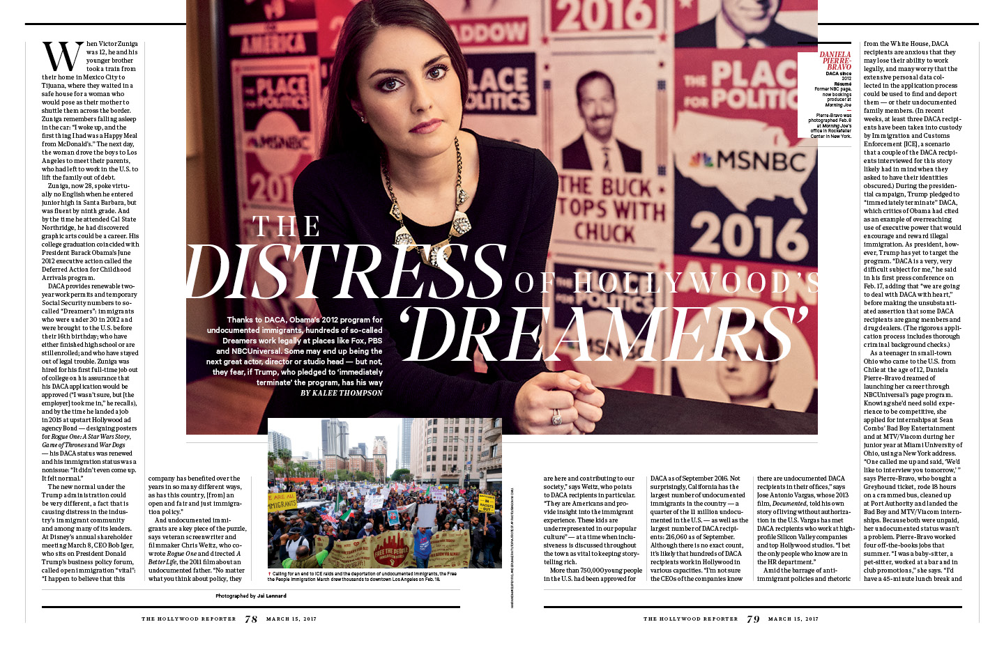 The Distress of Hollywood's Dreamers / The Hollywood Reporter / 3.15.17 / kelsey stefanson / art direction + graphic design / yeskelsey.com