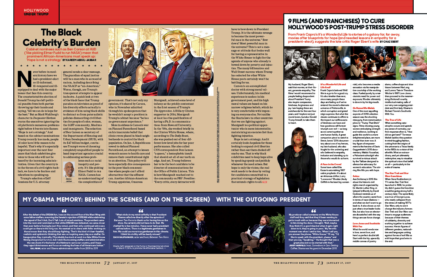 Here Comes the Trump Presidency / The Hollywood Reporter / 1.27.17 / kelsey stefanson / art direction + graphic design / yeskelsey.com
