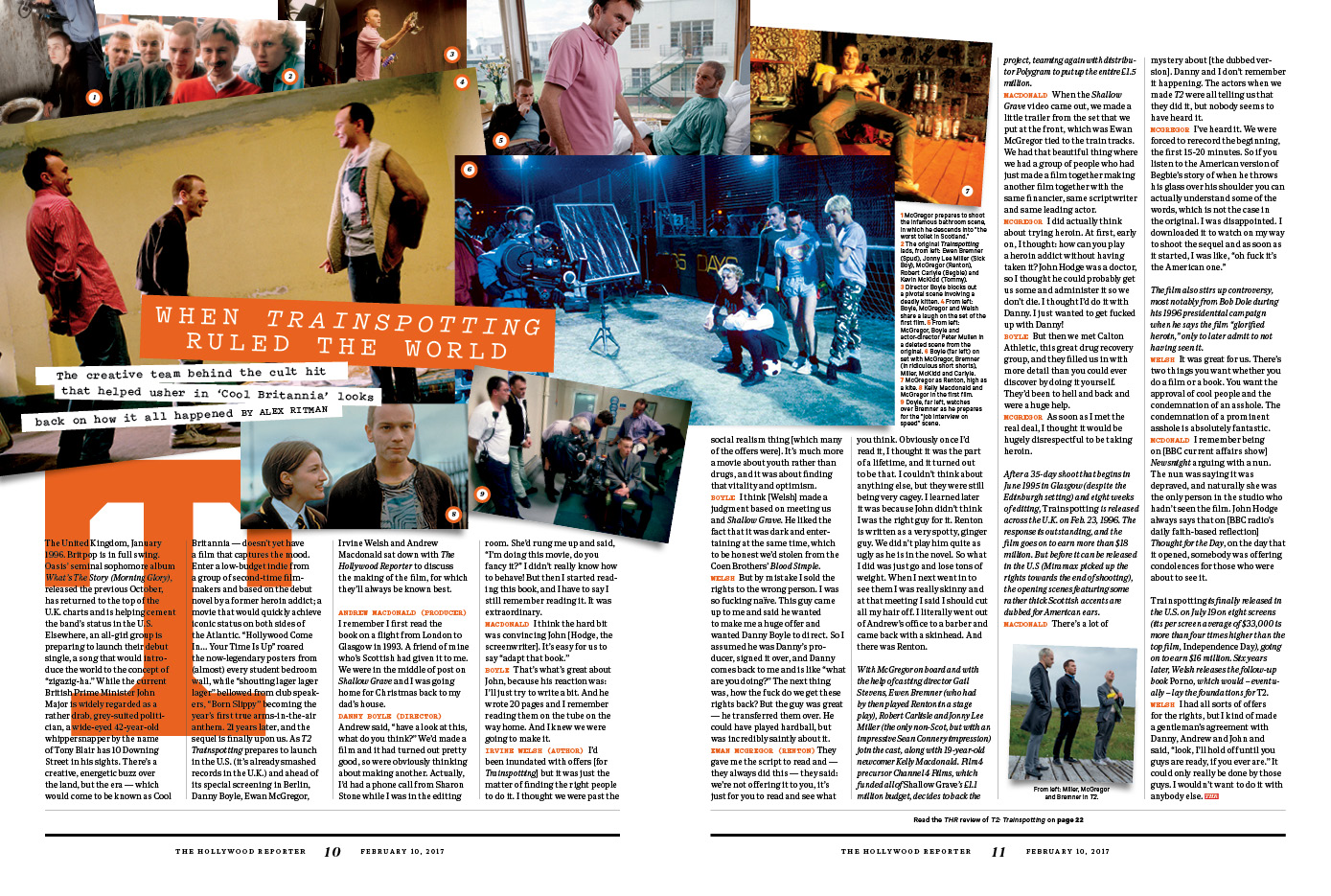 When Trainspotting Ruled the World / The Hollywood Reporter / Berlinale 2017 / kelsey stefanson / art direction + graphic design / yeskelsey.com