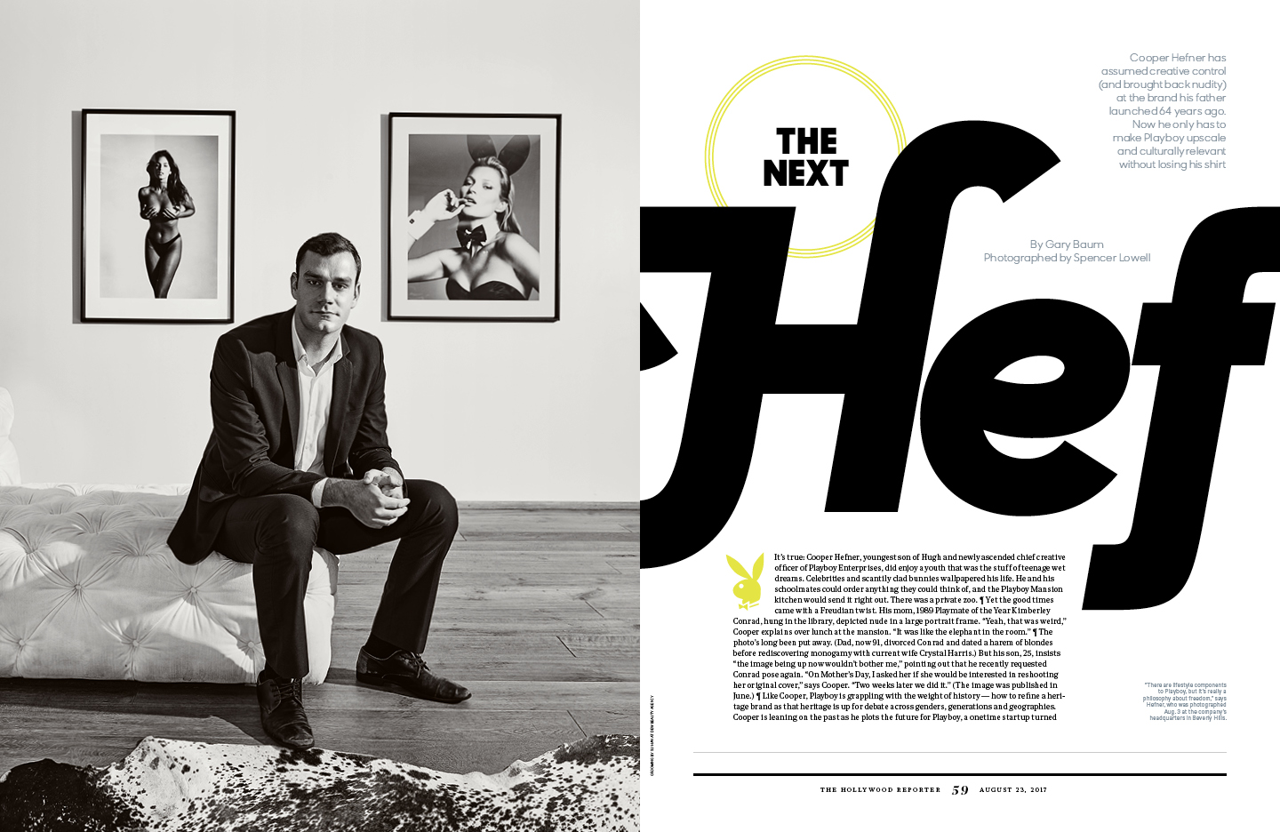The Next Hef / The Hollywood Reporter / 8.23.17 / kelsey stefanson / art direction + graphic design / yeskelsey.com