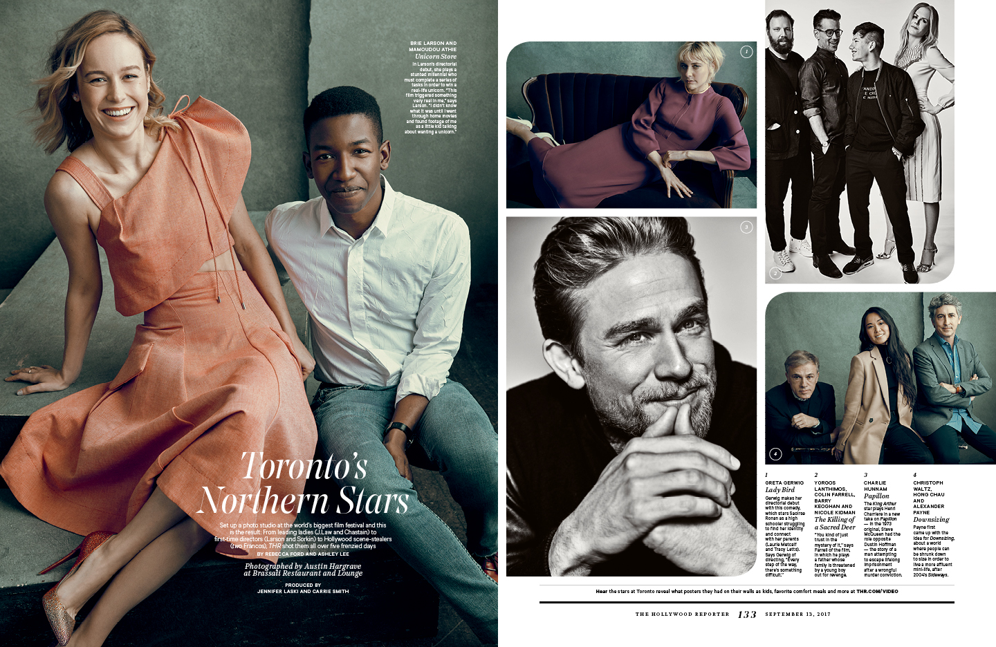 Toronto's Northern Stars / The Hollywood Reporter / 9.13.17 / kelsey stefanson / art direction + graphic design / yeskelsey.com