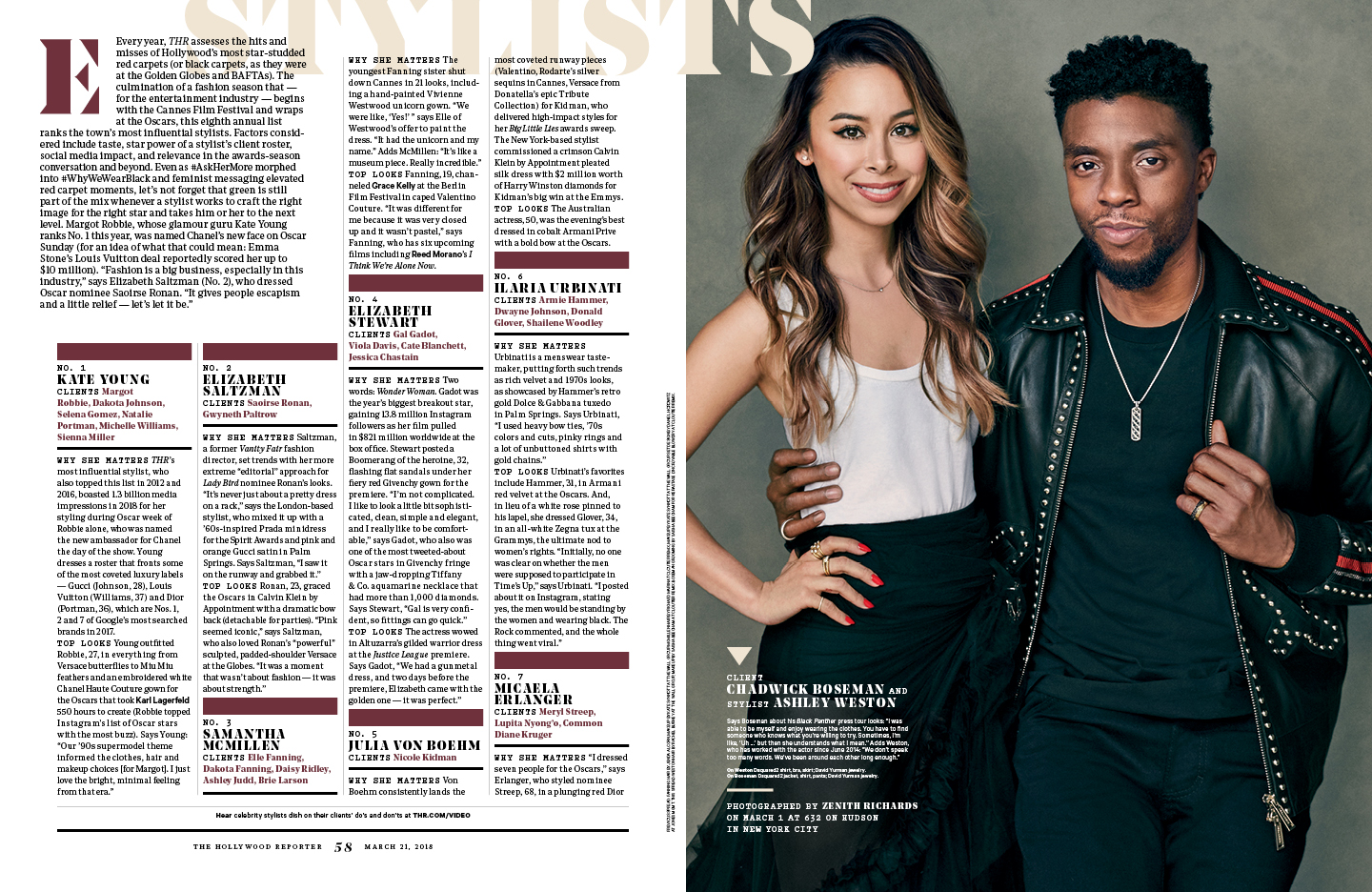 The 25 Most Powerful Stylists / The Hollywood Reporter / kelsey stefanson / art direction + graphic design / yeskelsey.com