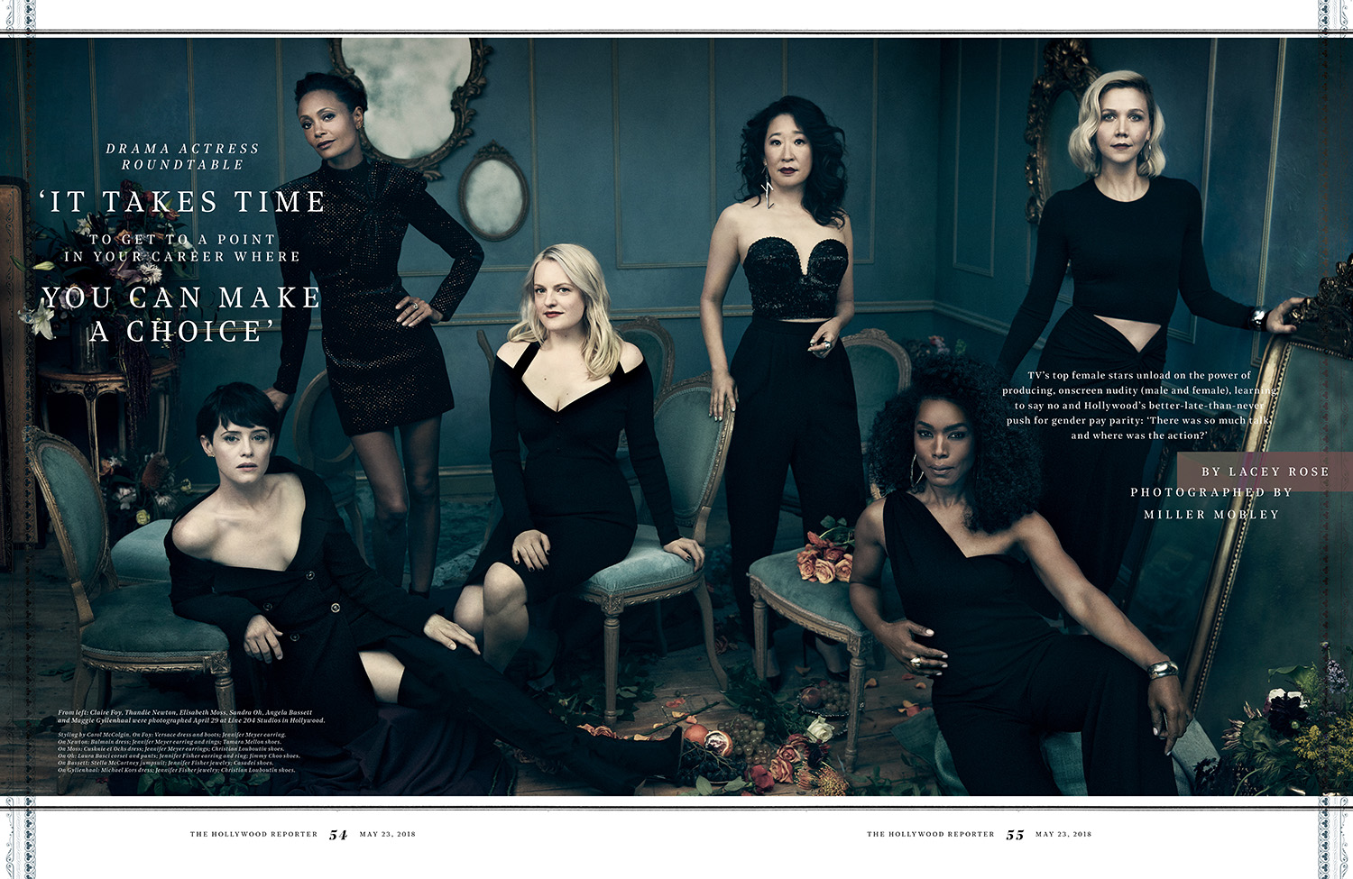 TV's Drama Actress Roundtable / The Hollywood Reporter / 5.23.18 / kelsey stefanson / art direction + graphic design / yeskelsey.com