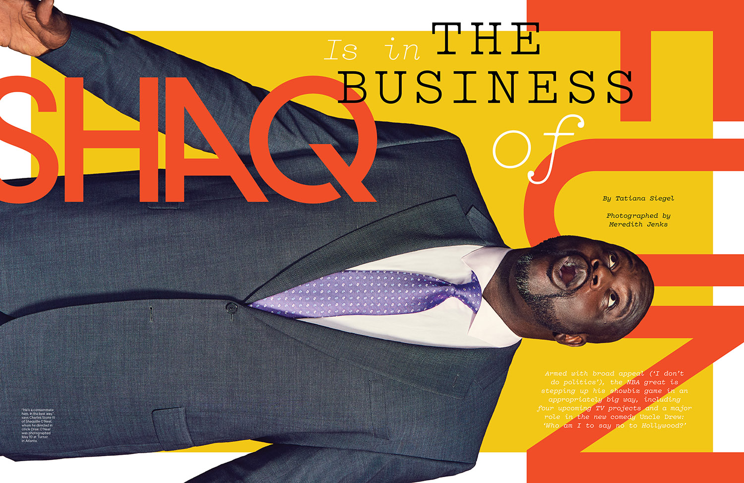 Shaq is in the Business of Fun / The Hollywood Reporter / 6.20.18 / kelsey stefanson / art direction + graphic design / yeskelsey.com