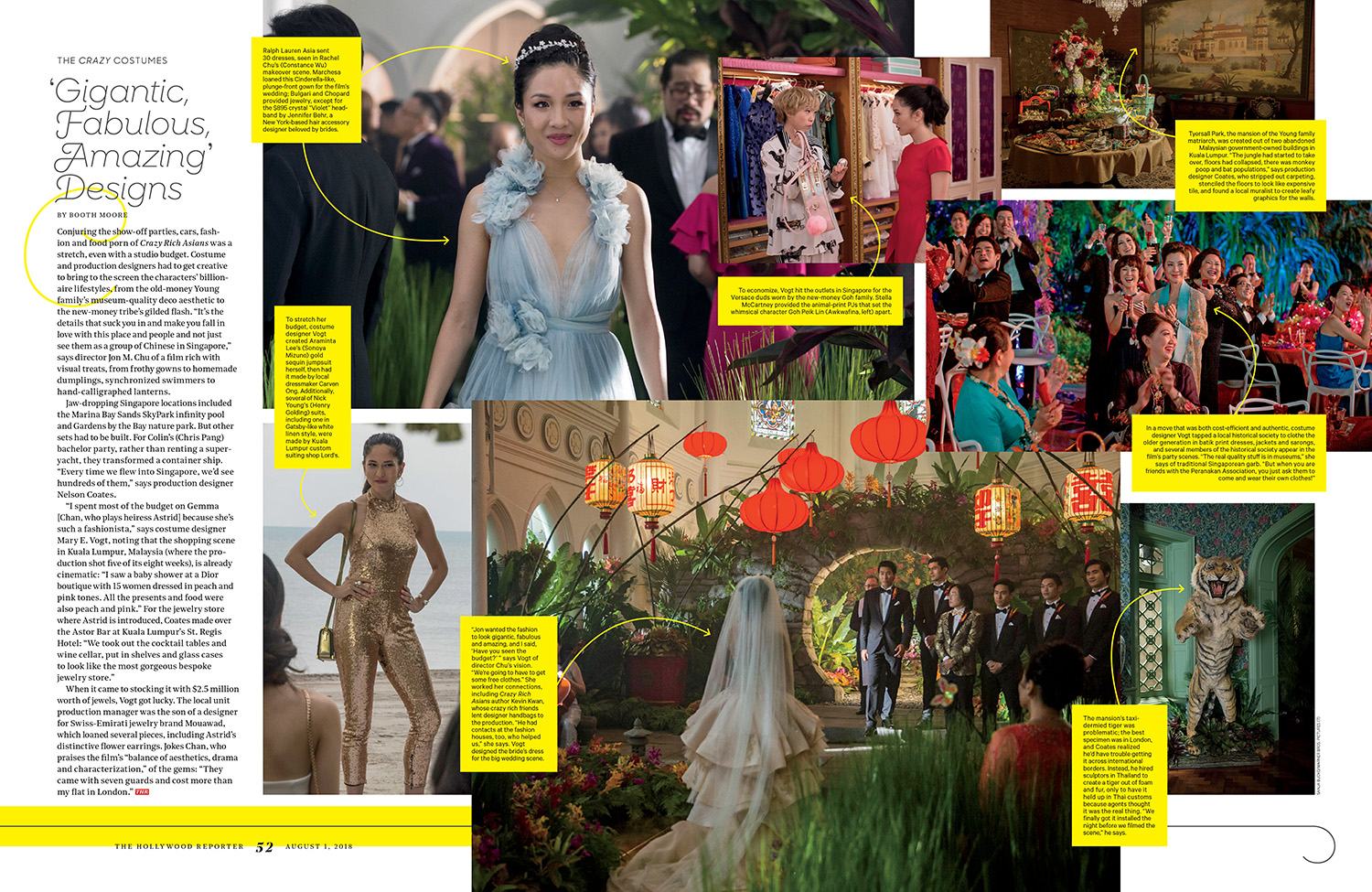 Crazy Rich Asians / The Hollywood Reporter / 8.1.18 / kelsey stefanson / art direction + graphic design / yeskelsey.com