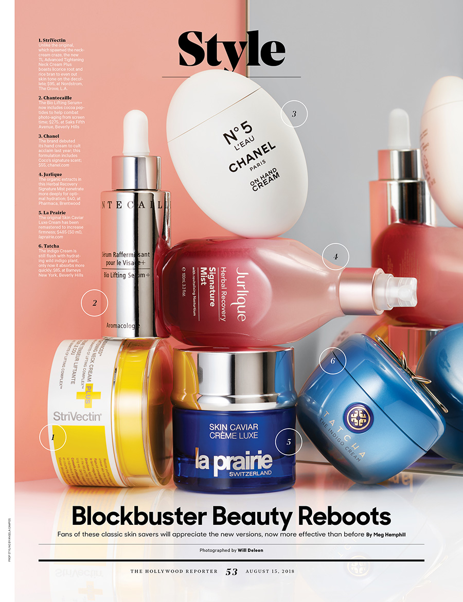 Beauty Reboots / The Hollywood Reporter / 8.15.18 / kelsey stefanson / art direction + graphic design / yeskelsey.com