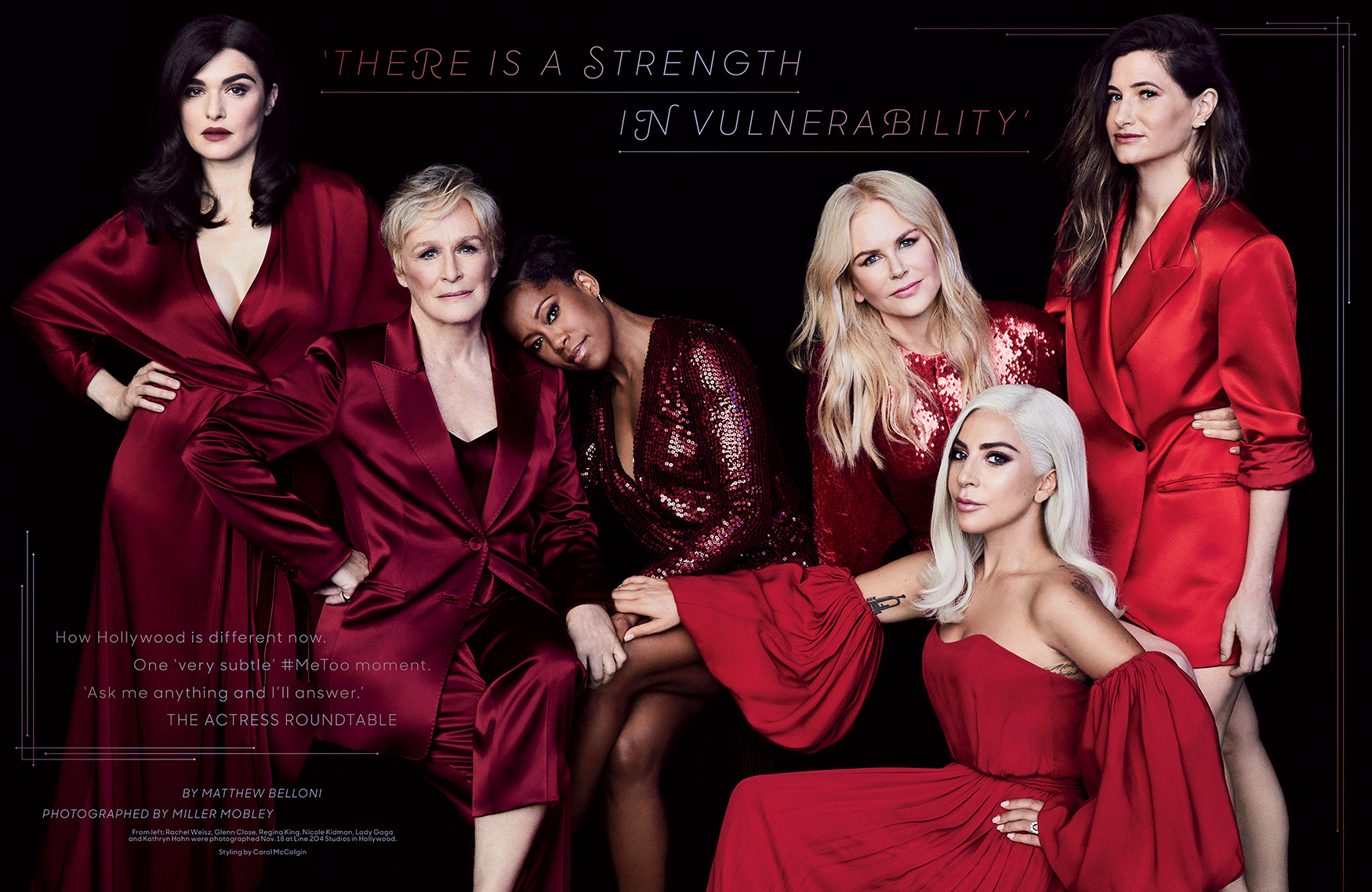 2018 Oscar Actress Roundtable / The Hollywood Reporter / 11.28.18 / kelsey stefanson / art direction + graphic design / yeskelsey.com