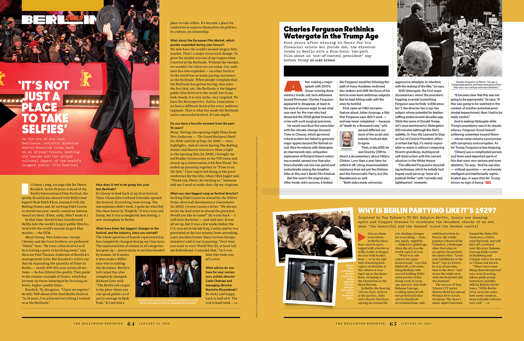 Berlin Film Festival 2019 Preview / The Hollywood Reporter / kelsey stefanson / art direction + graphic design / yeskelsey.com