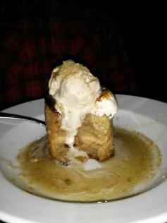 s'more bread pudding with maple & banana ice cream.