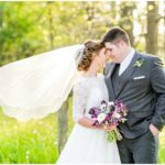 Intimate Plum And Gray Ohio Wedding
