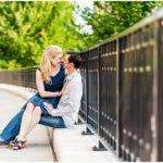 A Rainy Scioto Mile Engagement Session | Erin & Stephen