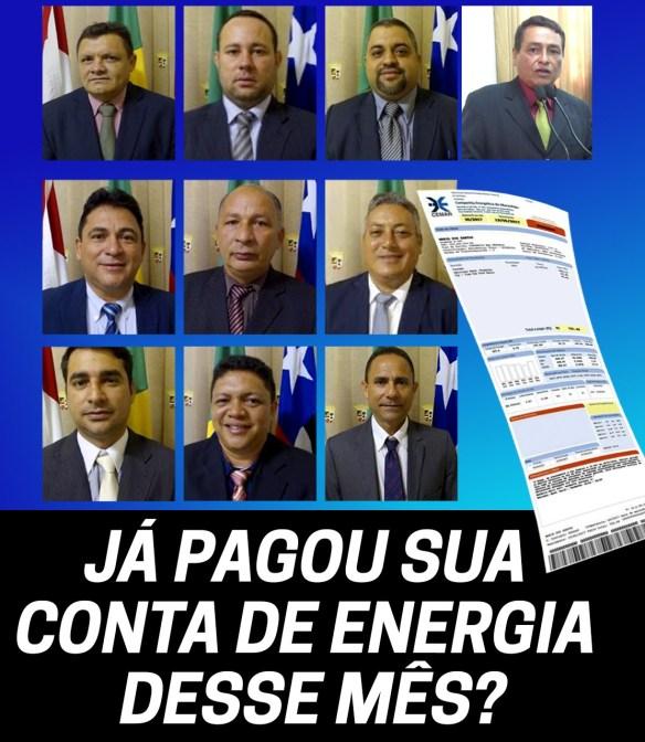 Vereadores que aumentaram a taxa de iluminação pública de Pinheiro
